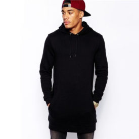 Men's Hip-Hop Style Long Hoodie
