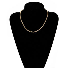 Miami Gold Chain Necklace Men Women w/ K 18